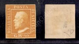 1859 - Mezzo Grano Arancio (2) Ben Marginato - Nuovo Con Gomma - E. Diena (1.200) - Stamps