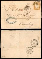 80 Cent Arancio Carico (17D) Isolato Su Letterina Da Genova A Chambery Del 25.3.63 - PD + Amb. Italia Francia... - Stamps