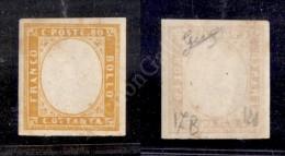 1863 - 80 Cent Giallo Arancio (17B) Senza Effigie - Gomma Integra - Biondi - Stamps