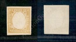 1859 - 80 Cent Giallo Olivastro (17Aa) Senza Effigie - Ottimi Margini - Nuovo Con Gomma Integra - Molto Bello - Stamps