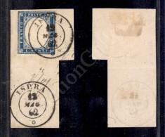 20 Cent Azzurro (15Dd) Su Frammento Da Ispra (P.ti 12) Del 12.5.62 - Molto Bello (1.700) - Stamps