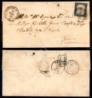20 Cent Azzurro Scuro (15B) Su Lettera Da S. Stefano D'Aveto (P.ti 10) A Genova Del 11.5.59 - Cert. Raybaudi... - Stamps