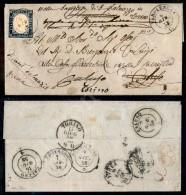 Verolengo (azzurrastro - P.ti 13) - 20 Cent Azzurro Grigiastro (15A) Corto A Sinistra - Lettera Per Caluso Del... - Stamps