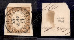 Da Piacenza A Alessandria 1 (P.ti 12) - 10 Cent Bistro (14E) Su Frammento - Bolaffi (1.300) - Stamps