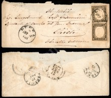 10 Cent Grigio Oliva (14Ca) - Coppia Su Bustina Per Militare Da Lucca A Chieti Del 18.9.61 (1.800) - Stamps