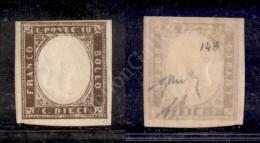 1860 - 10 Cent Bruno Grigio Oliva (14B) Nuovo Con Gomma Praticamente Integra - Perfetto In Alto - Diena +... - Stamps
