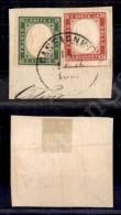 5 Cent Verde (13E) + 40 Cent Rosso (16Ea) Su Frammento Da Castagneto - Ottimi Margini - Molto Bello - Stamps