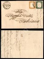 5 Cent Verde Bronzo (13Dd) + 10 Cent Arancio Brunastro (14Dg) - Lettera Da Foligno A Fabriano Del 15.01.63 (3.600+) - Stamps