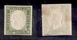 1861 - 5 Cent Verde Oliva Giallastro (13Cc) Nuovo Con Gomma - Ottimi Margini - Cert. Raybaudi - Molto Bello (1.000) - Stamps