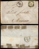 5 Cent Verde Oliva (13Bc) Isolato Su Circolare Da Milano A Modena Del 19.5.60 - Oliva (2.000) - Stamps