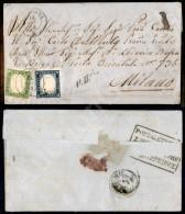 5 Cent Verde Giallo (13Ah Stampa Difettosa) Preciso A Sinistra In Basso + 20 Cent Azzurro (15Aa) Su Lettera Da... - Stamps