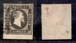 1851 - 5 Cent Nero Seppia (1f) - Prima Tiratura - Ottimi Margini E Bordo Di Foglio - Splendido - Diena + Cert. AG... - Stamps