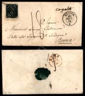 Rombi Di Genova (P.ti 13) - 20 Cent Azzurro (2 - Prime Tirature) Corto In Alto - Isolato Su Busta Tassata Per Roma... - Stamps