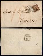 4 Bai Fulvo (5) Isolato Su Lettera Da Ferrara A Trieste Del 9.12.59 - Margini Perfetti - Diena (1.300+) - Stamps