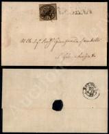 Governo Provvisorio 19/20 Giugno 1859 - 3 Bai Bruno (4 - Pontificio) Corto A Sinistra - Isolato Su Lettera Da... - Stamps
