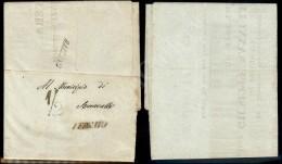 Governo Provvisorio - 20 Agosto 1859 - 1/2 Bazzano + Vergato Su Intero Manifesto Da Bologna (1 Agosto) - Stamps