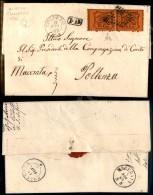 Coppia Del 10 Cent Arancio Vermiglio (26c) Su Lettera Da Carneto (P.ti 5) + PD A Pollenza - Splendida - Stamps