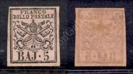 1852 - 5 Baj Rosa (6) Nuovo Con Gomma Integra - Ottimi Margini - E. Diena (900) - Stamps