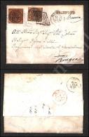 Bolsena (bruno Rossastro) - 3 Baj (4Ac - Oleoso) Su Lettera Per Roma Del 12.1.58 Affrancata Con 3 Baj (4Aca) E... - Stamps