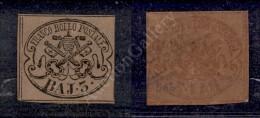1852 - 3 Baj Bruno Grigiastro (4Ab) - Buoni Margini - Sorani (1.500) - Stamps