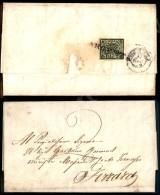 2 Baj Verde Oliva (3) Su Lettera Da Argenta Del 11.6.1859 Nell'ultimo Giorno Di Pontificio Con Arrivo A... - Stamps