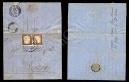 Coppia Del 10 Cent Cioccolato (14Af) Applicata A Cavallo Del Bordo Superiore - Lettera Da Borgo S. Donnino (P.ti 8)... - Stamps