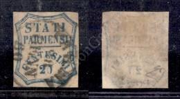 1859 - 20 Cent Azzurro Scuro (15b) - Buoni Margini - Parma 28.1.60 - Diena (1.100) - Stamps