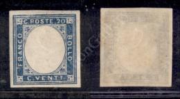 1861 - Province Napoletane/Regno - Non Emesso - 20 Cent Azzurro (3e) Senza Effigie - Nuovo Con Gomma Integra -... - Stamps