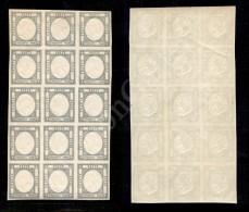 Blocco Di Quindici Del 50 Grana Azzurro Grigio (24c) - Gomma Integra - BB (2.400+) - Stamps