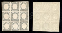 Blocco Di Nove Del 50 Grana Azzurro Grigio (24c) - Gomma Integra - Molto Bello (1.500+) - Stamps