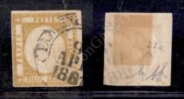 1861 - 10 Grana Giallo Ocra (22a) - A. Diena (1.250) - Stamps