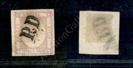 1861 - 5 Grana Lilla (21c) - PD Unico Annullatore - Fiecchi - Stamps