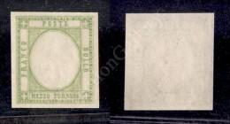 1861- Province Napoletane - Mezzo Tornese Verde Giallo Chiaro (17aia) Senza Effigie - Gommato Solo Al Recto - Nuovo... - Stamps