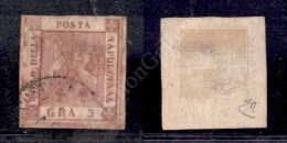 1859 - 5 Grana Rosa Bruno (9) - R. Posta Mil. Sarda (P.ti R1) - Ben Marginato - E. Diena - Stamps