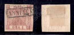 1859 - 1 Grano Rosa Carminio Vivo (4t) Con Doppia Incisione (pos. 10) - BB (800) - Stamps