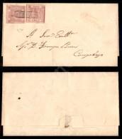 1 Grano Carminio (3c) - Due Pezzi Su Lettera Da Lorino A Campobasso - Ottimi Margini - Freschissima E Rara - Cert.... - Stamps