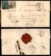 Governo Provvisorio - 5 Cent Verde (7) + 25 Cent Camoscio (4) Ritagliati Nel Disegno - Lettera Da Modena A Spezia... - Stamps