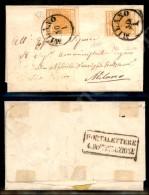 Due 5 Cent Arancio (1i) Su Letterina Per Città - Milano 30.1.1857 - Cert. Diena (2.000+) - Stamps