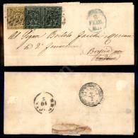 Bicolore - 15 Cent (3) Con Punto Dopo La Cifra + Coppia Del 5 Cent (8) Appena Corta A Sinistra In Alto - Lettera Da... - Stamps