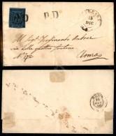 PD Annullatore (P.ti 12) - 40 Cent Azzurro (6) Su Lettera Da Carrara A Roma 13.12.58 (5.875) - Stamps