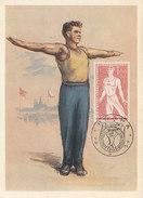 D30566 CARTE MAXIMUM CARD 1955 CZECHOSLOVAKIA - GYMNASTICS SPARTAKIADE CP ORIGINAL - Gymnastics