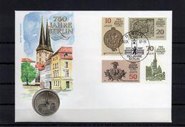 DDR, 1987, Numisbrief, Michel 3023/26-5 Mark Berlin-Nikolaiviertel - [6] Democratic Republic