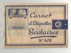 Carnet D'étiquettes Scolaires ,Lierre Bleu , N° 405 , 24 étiquettes : Vocabulaire , Récitations...  ,4 Scans, Fr: 1.95 & - Vieux Papiers