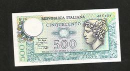 ITALIA - REPUBBLICA ITALIANA - 500 Lire - MERCURIO (Decr. 02/04/1979) - [ 2] 1946-… : Repubblica