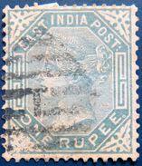BRITISH INDIA 1874 1Re Queen Victoria Used SG79 CV£30 - 1858-79 Compañia Británica Y Gobierno De La Reina