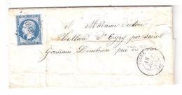Lettre De VEYRE, Puy De Dôme PC 3549 Sur Empire N° 14 B, 18 Juin 1861 > Mme Teillard D' Eyry , St Germain Lembron; TEXTE - 1849-1876: Période Classique
