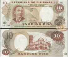 Philippines. 10 Piso (Unc) 1969. Banknote Cat# P.144b [DLC.BN05208] - Filippine