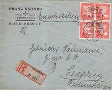 DEUTSCHES REICH - RECO 1925 ELSTERBERG -> LEIPZIG Mi #373 - Deutschland