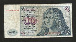 DEUTSCHLAND - DEUTSCHE BUNDESBANK - 10 MARK (Frankfurt Am Main 1970) - [ 7] 1949-… : FRG - Fed. Rep. Of Germany