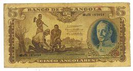 Angola 5 Angolares  , 1947 , VF. Rare. - Angola